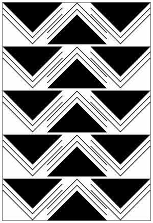 Adesivo Decorativo Geométrico - Triangulo Detalhado
