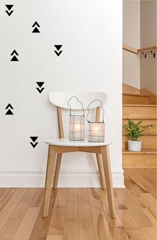 Adesivo Decorativo Geométrico - Triangulo e Meio Triangulo