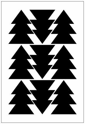 Adesivo Decorativo Geométrico - Triangulo Triplo