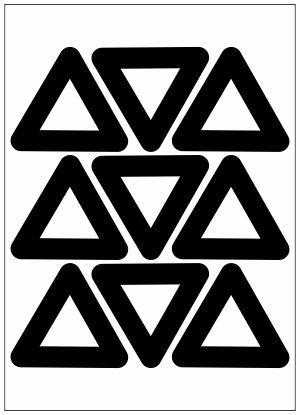 Adesivo Decorativo Geométrico - Triangulo Vazado