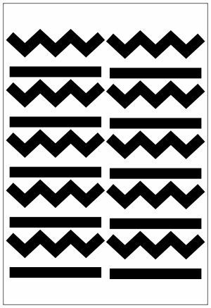 Adesivo Decorativo Geométrico - Zig Zag + Confetes