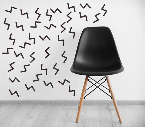 Adesivo Decorativo Geométrico - Zig Zag de Confetes