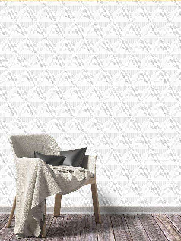 Papel de Parede 3D - Cinza Particular
