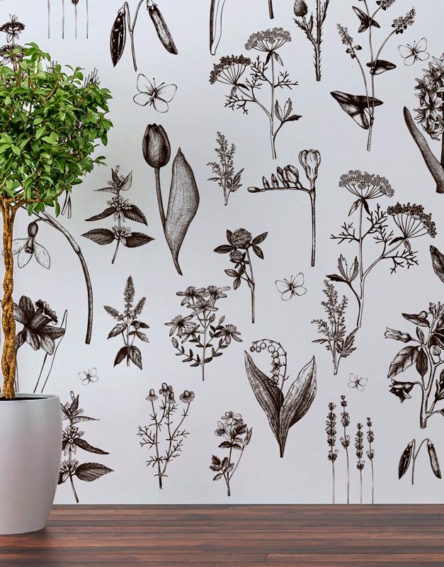 Papel de Parede Botânico - Vintage Botanic