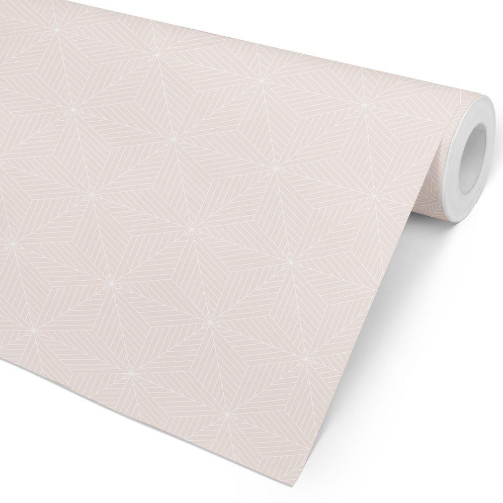 Papel de Parede Escandinavo - Fino Traço Rosé