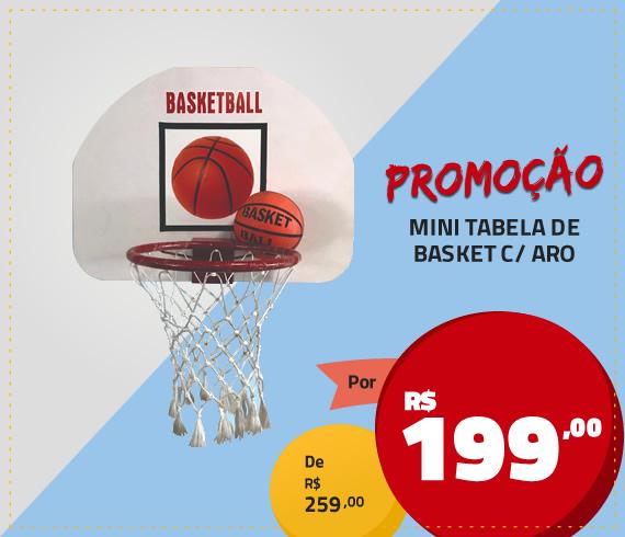mini tabela de basket c/ aro