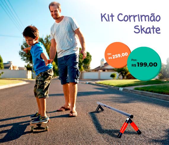 kit corrimão para skate / trave equilíbrio