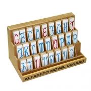 Alfabeto Movel Degrau Cursivo M.d.f. 5 Jogos 130 Pçs