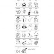 Carimbos Alfabeto em Inglês