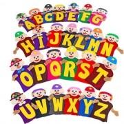 Fantoches da Alfabetização com 26 Personagens