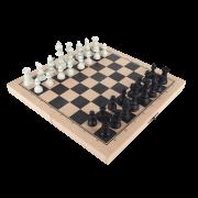 Jogo De Xadrez Escolar Medio M.d.f. 28 X 28 Cm