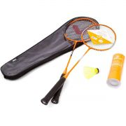 Kit Badminton Vollo 2 Raq 3 Petecas De Nylon