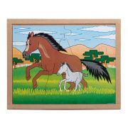 Quebra-Cabeça Animais E Filhotes - Cavalo