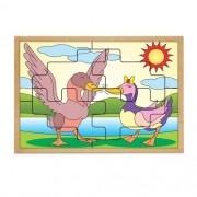 Quebra-Cabeca Casal Patos 8 Pc 30 X 23 Cm