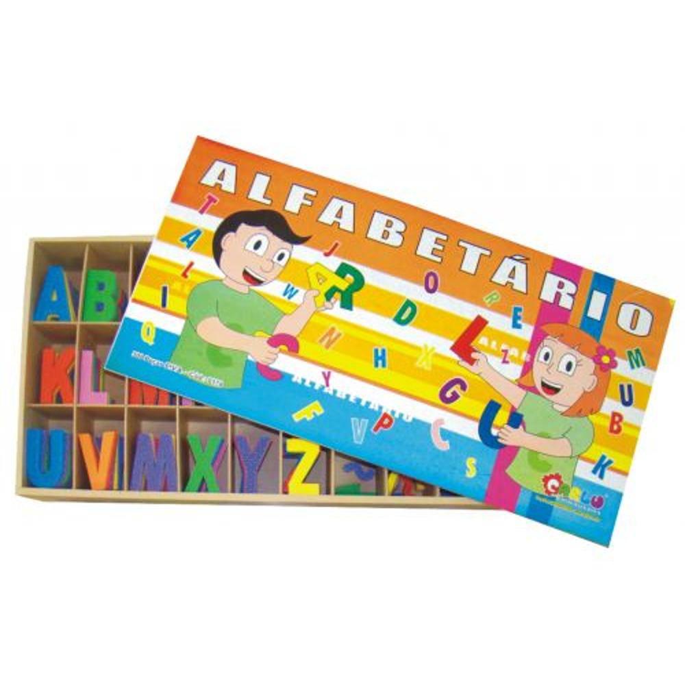 Alfabetario E.v.a. 300 Peças 4 X 7 Cm  - Alegria Brinquedos