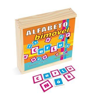 Alfabeto Bimovel Em M.d.f. 128 Pc  - Alegria Brinquedos