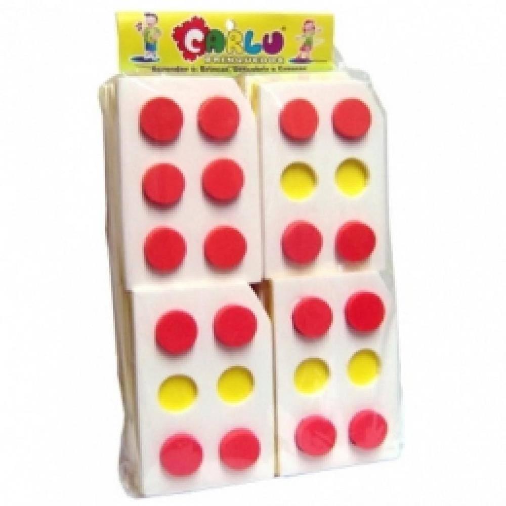 Alfabeto Braille Vazado E.v.a. 15 Pç 10 X 7 Cm