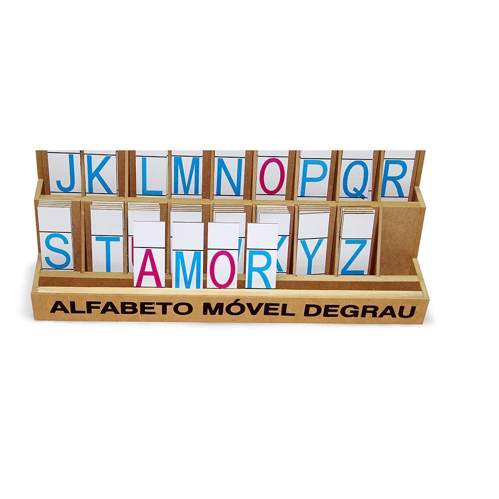 Alfabeto Movel Degrau M.d.f. 5 Jogos 130 Pçs  - Alegria Brinquedos