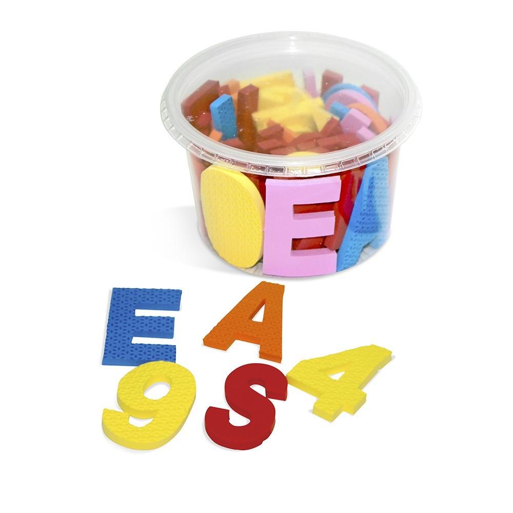 Alfabeto Movel Em E.v.a. 6 Mm 46 Pc No Pote  - Alegria Brinquedos