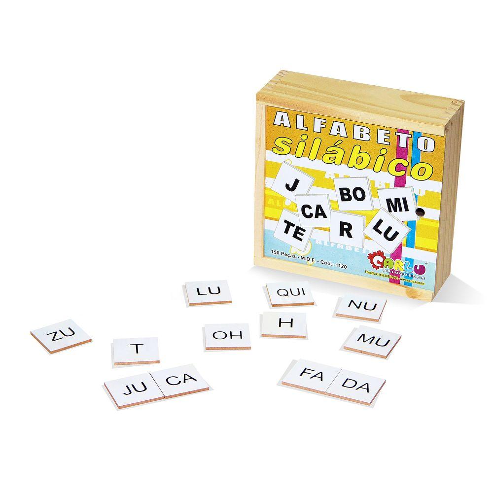 Alfabeto Silabico 150 Pç M.d.f. 4 X 4 Cm  - Alegria Brinquedos
