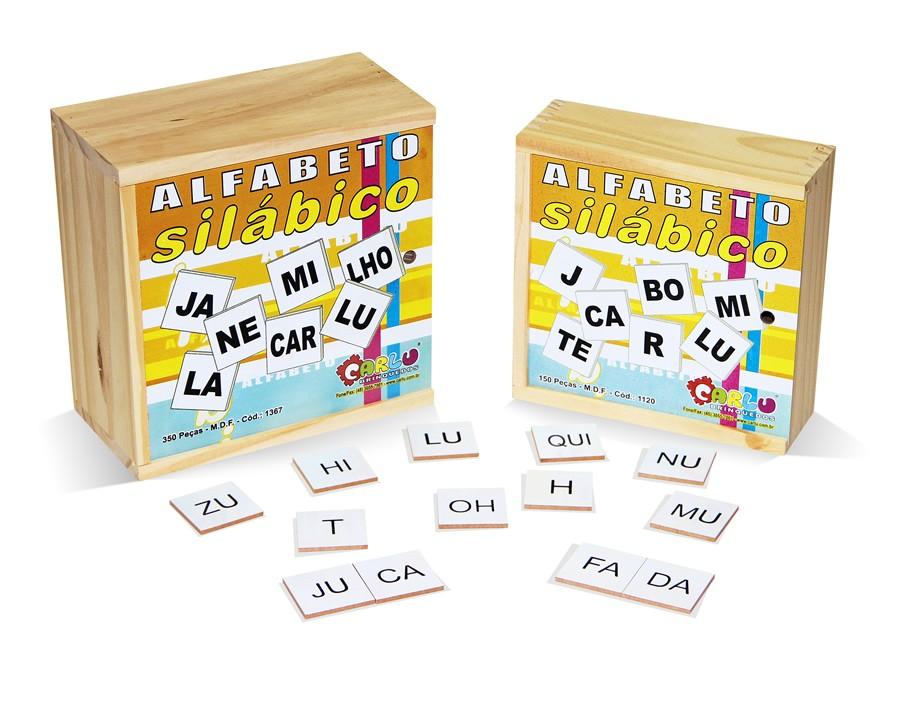 Alfabeto Silabico 350 Pc em M.d.f.  - Alegria Brinquedos