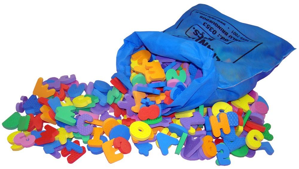 Alfanumerico Eva 4cm X 10mm No Tnt Com 500 Pç  - Alegria Brinquedos