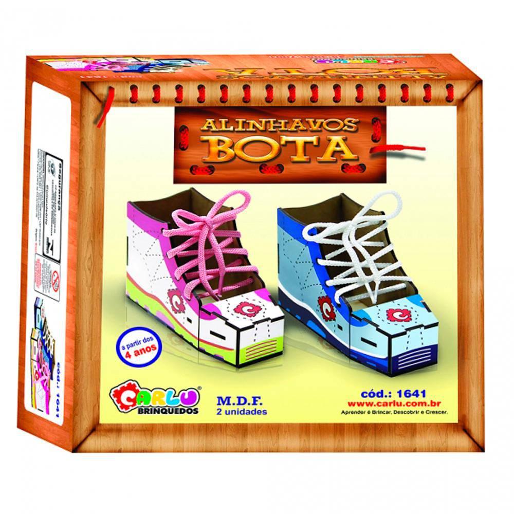 Alinhavos Bota Em M.d.f. 15 X 6 X 10 Cm  - Alegria Brinquedos