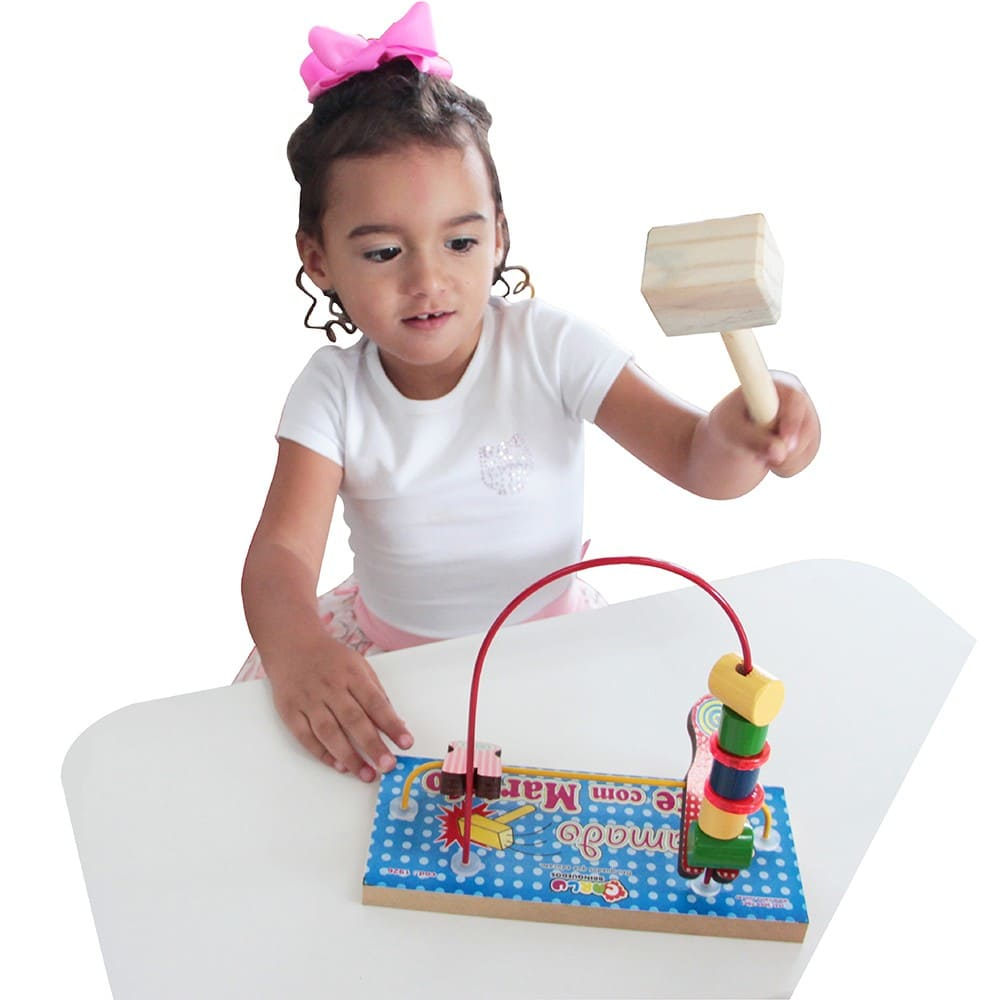 Aramado Bate Com Martelo  - Alegria Brinquedos
