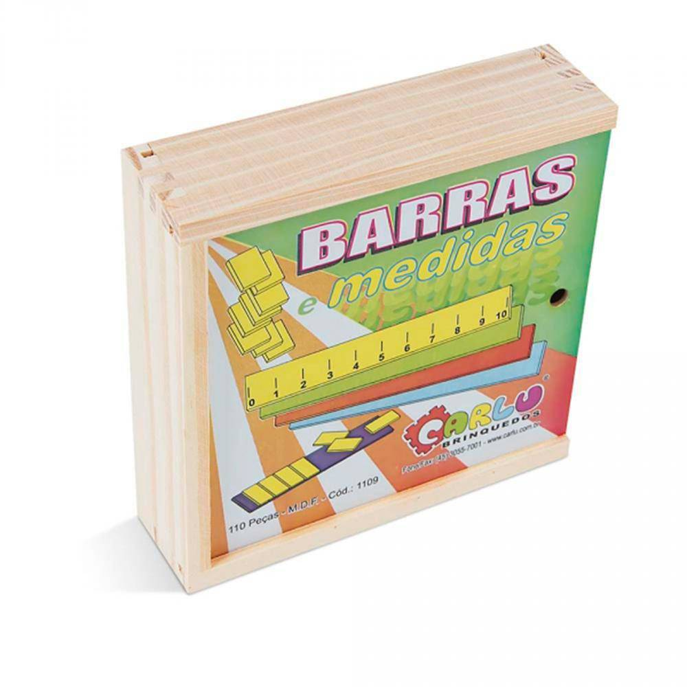 Barras E Medidas M.d.f. 0,28 Cm 110 Pc Coloridas