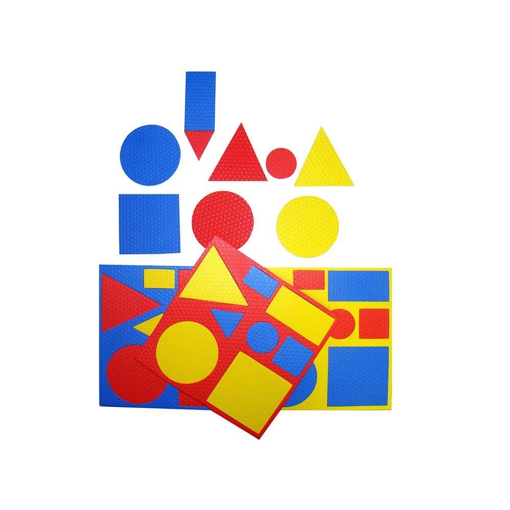Blocos Lógicos E.v.a. 48 Pçs  - Alegria Brinquedos