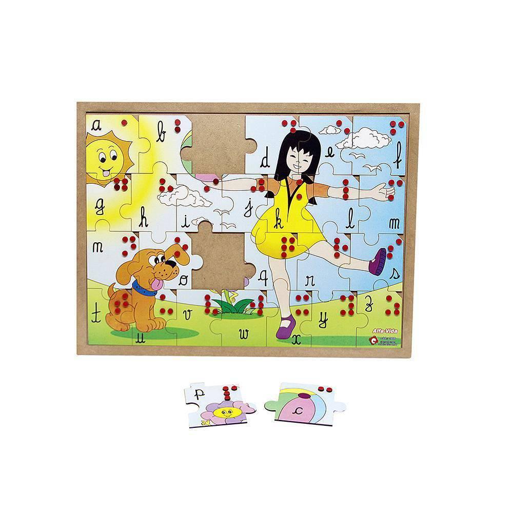 Braille Quebra Cabeça Alfa-Vida  - Alegria Brinquedos