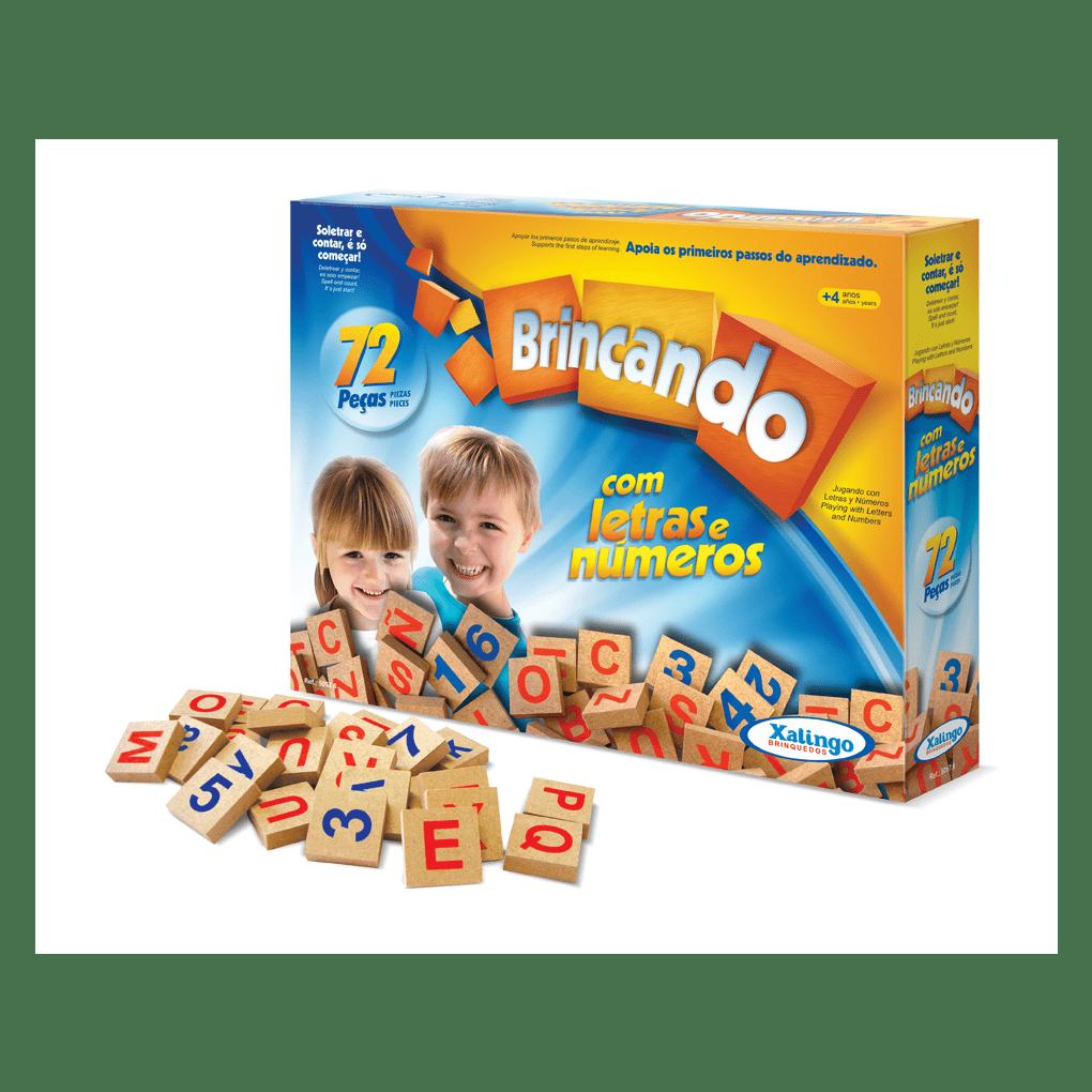 Brincando Com Letras E Números  - Alegria Brinquedos