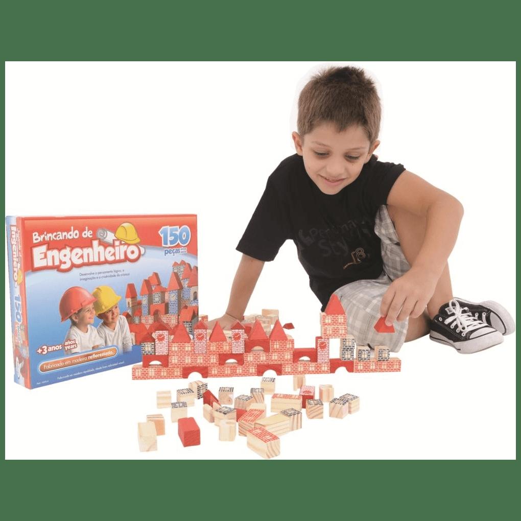 Brincando De Engenheiro 150 Peças  - Alegria Brinquedos