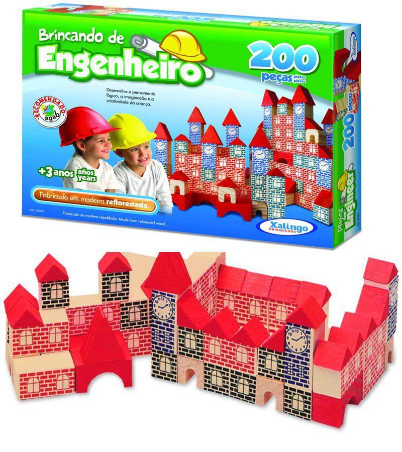 Brincando De Engenheiro 200 Peças  - Alegria Brinquedos