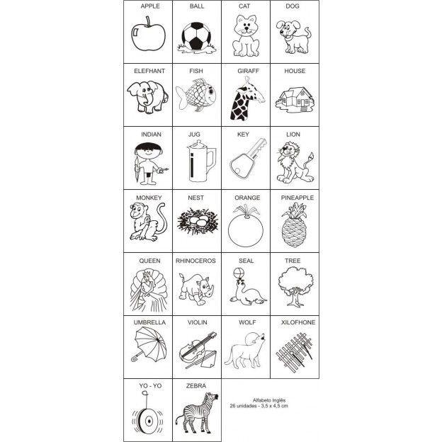 Carimbos Alfabeto em Inglês  - Alegria Brinquedos