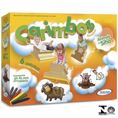 Carimbos Educativos Animais Do Sítio  - Alegria Brinquedos