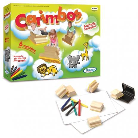 Carimbos Educativos Animais Selvagens  - Alegria Brinquedos