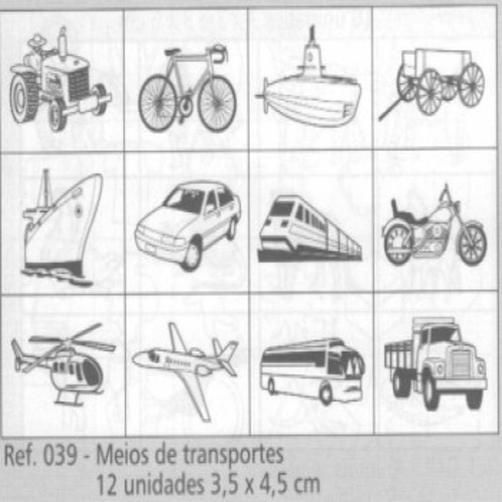 Carimbos Meios De Transporte  - Alegria Brinquedos