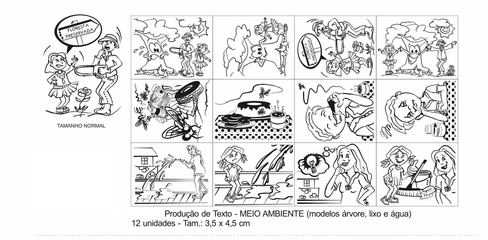 Carimbos Produção de Texto Meio Ambiente  - Alegria Brinquedos