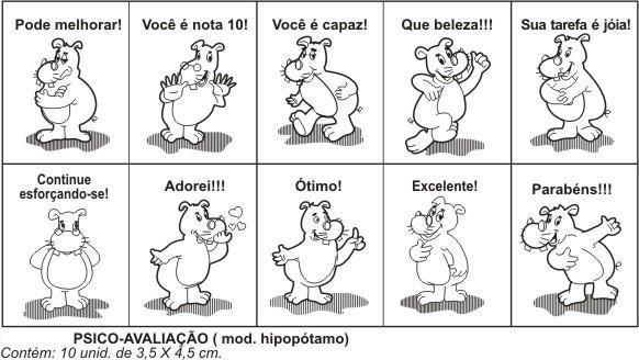Carimbos Psico Avaliação Hipopótamo