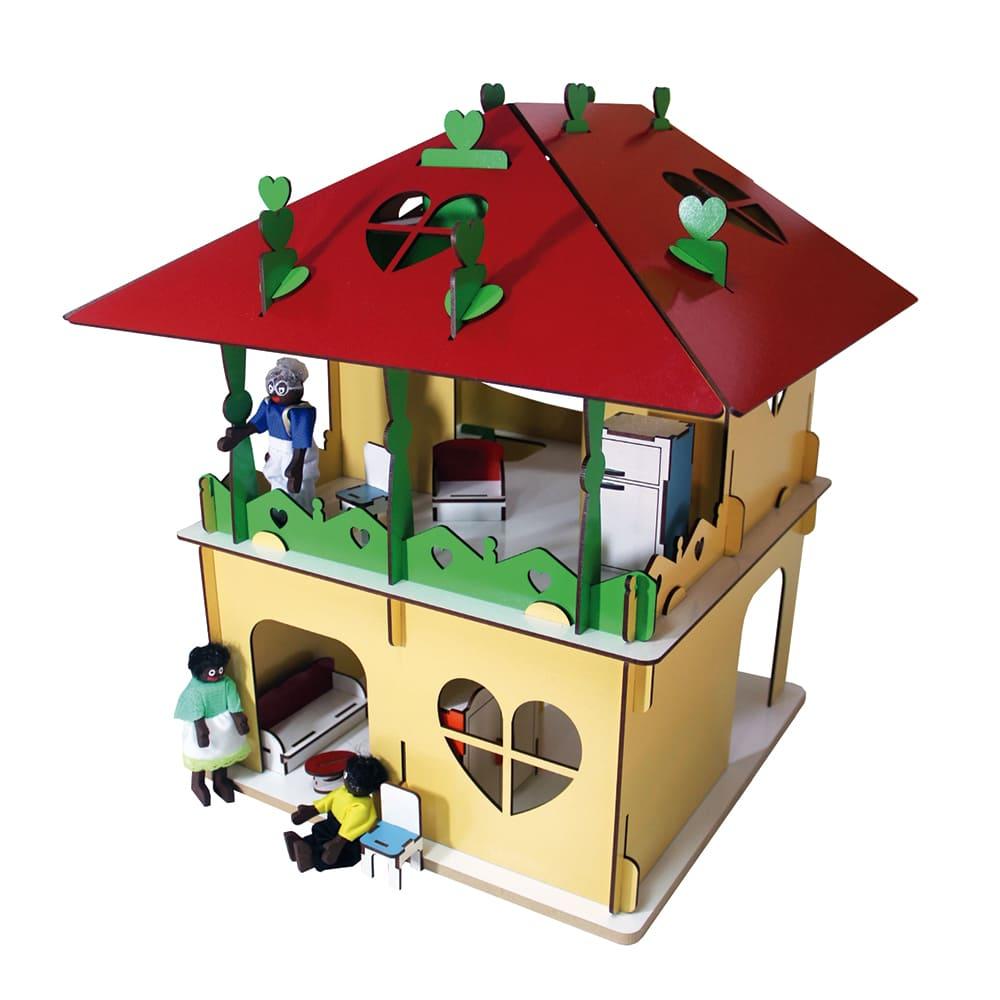 Casinha Colorida - Telhado Vermelho 31 Pçs  - Alegria Brinquedos