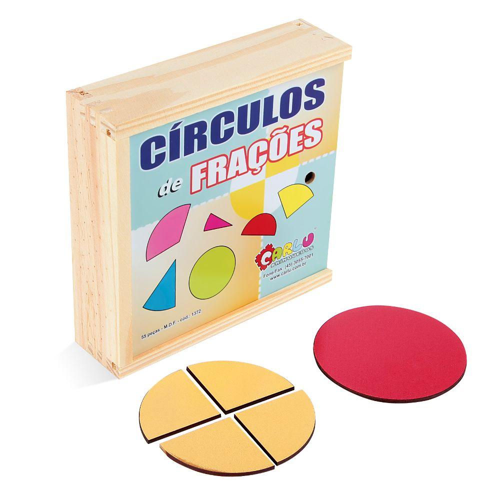 Circulo De Fracoes 55 Pc Em M.d.f.  - Alegria Brinquedos