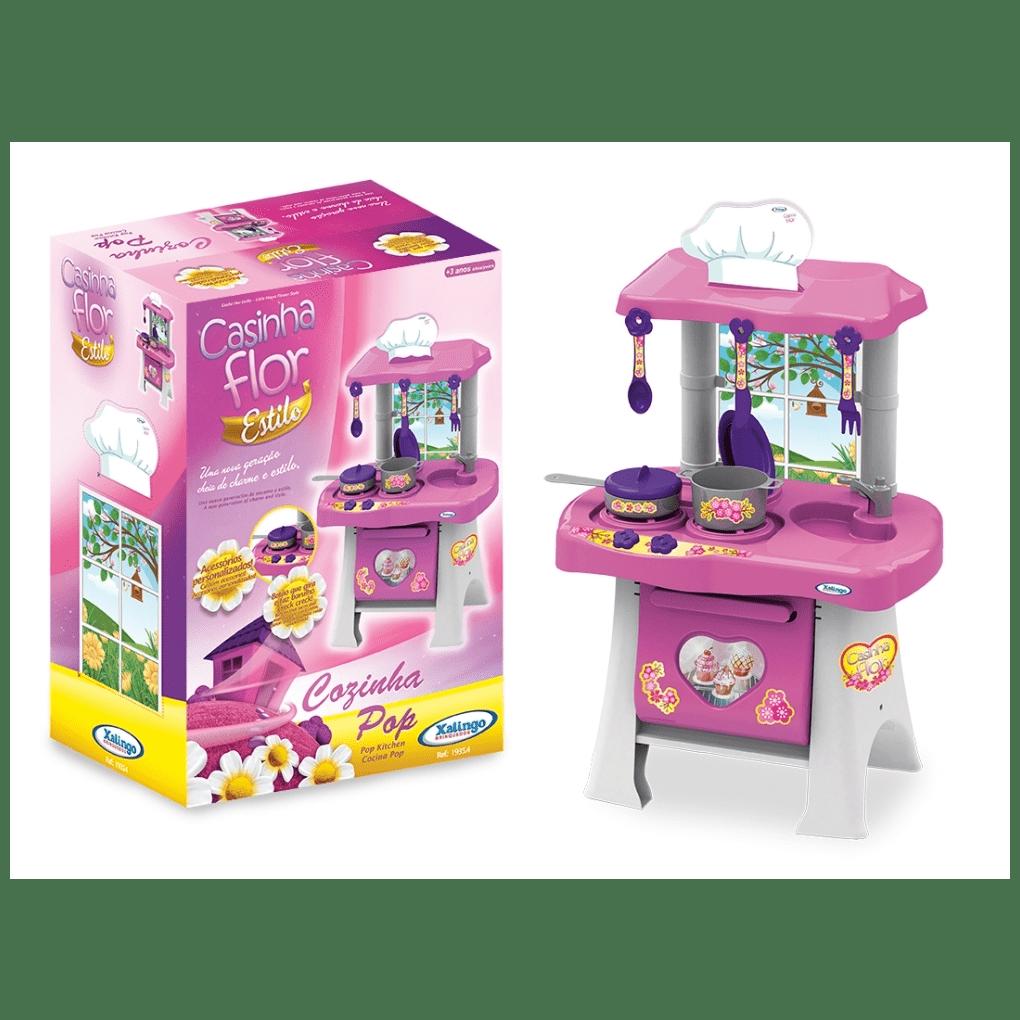 Cozinha Casinha Flor  - Alegria Brinquedos