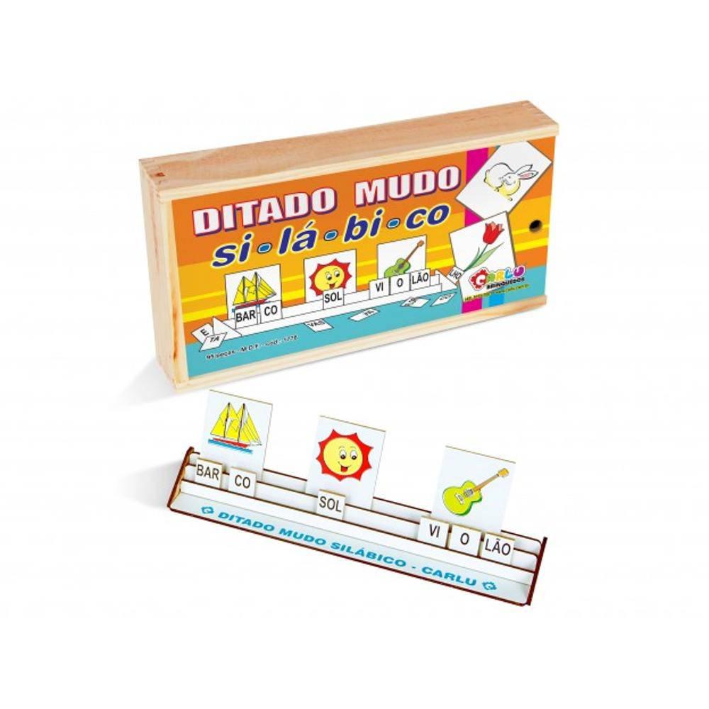 Ditado Mudo Silabico 95 Pc 5 X 7 Cm  - Alegria Brinquedos