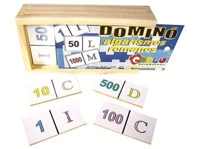 Domino Algarismos Romanos  - Alegria Brinquedos