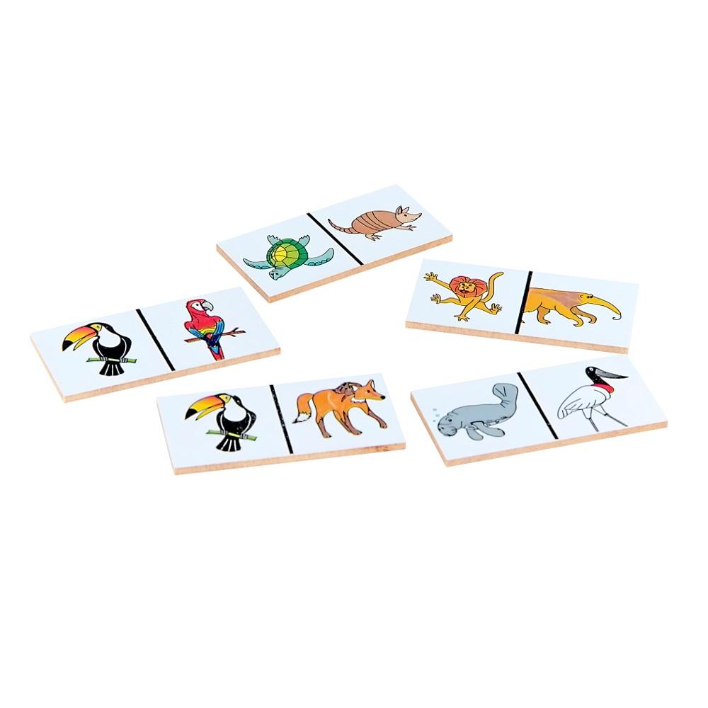 Dominó Animais Selvagens  - Alegria Brinquedos