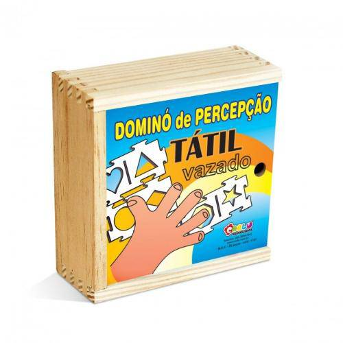 Domino De Percepcao Tatil - Vazado  - Alegria Brinquedos