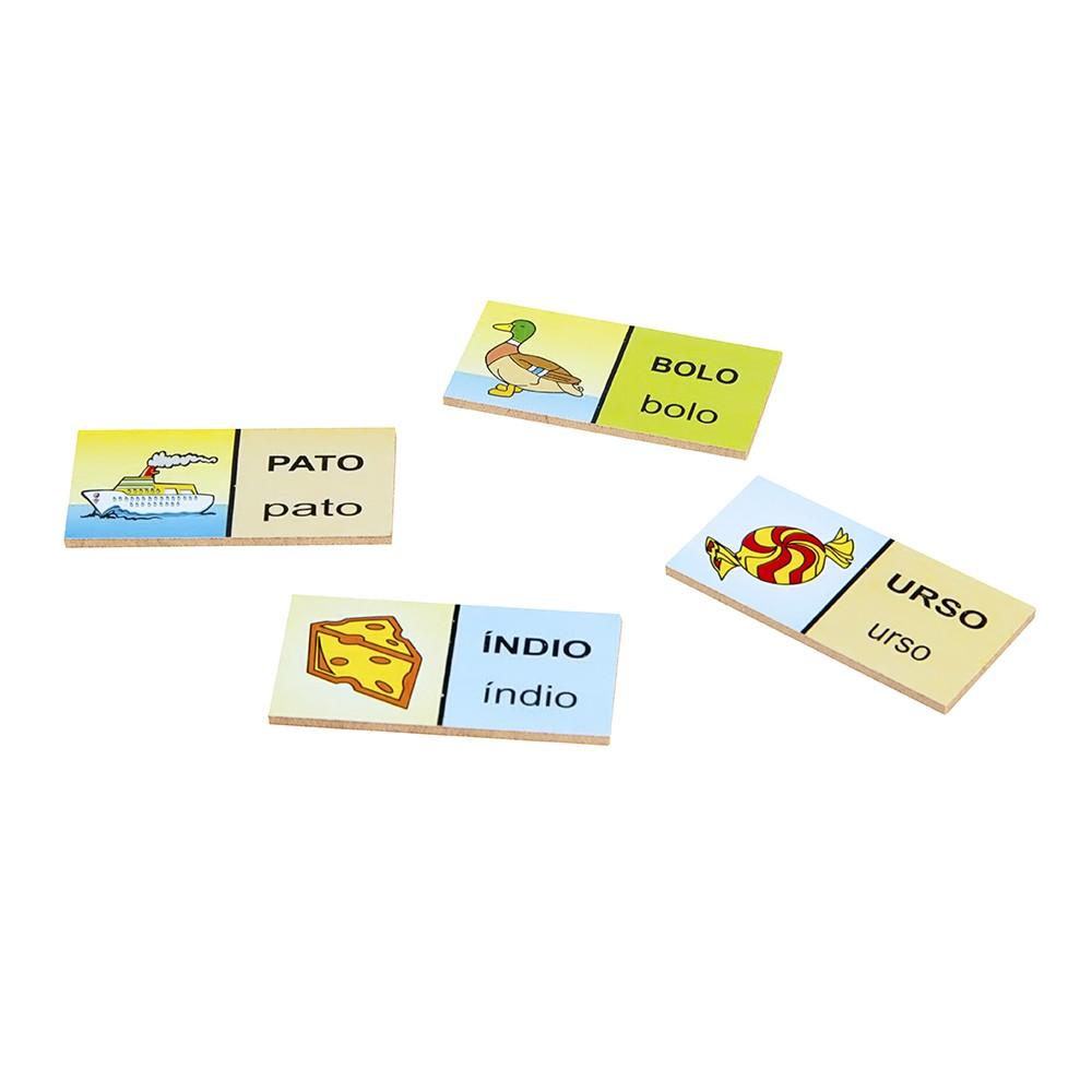 Dominó Figuras e Palavras  - Alegria Brinquedos