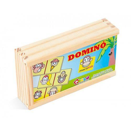 Domino Macakids 28 Pc Em M.d.f. 7 X 3,5 Cm  - Alegria Brinquedos