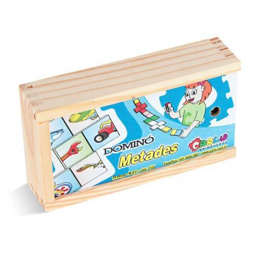 Dominó Metades  - Alegria Brinquedos